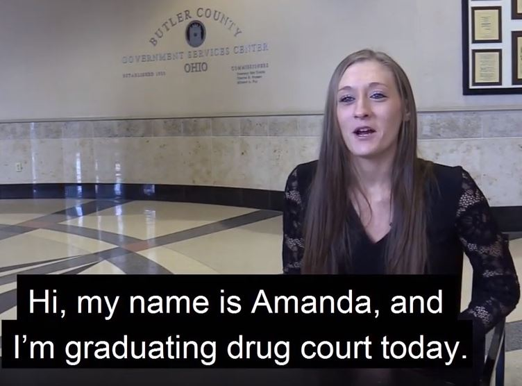 Amanda's video about graduating from drug court
